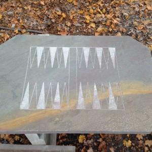 "24""x36"" Natural Backgammon Board"
