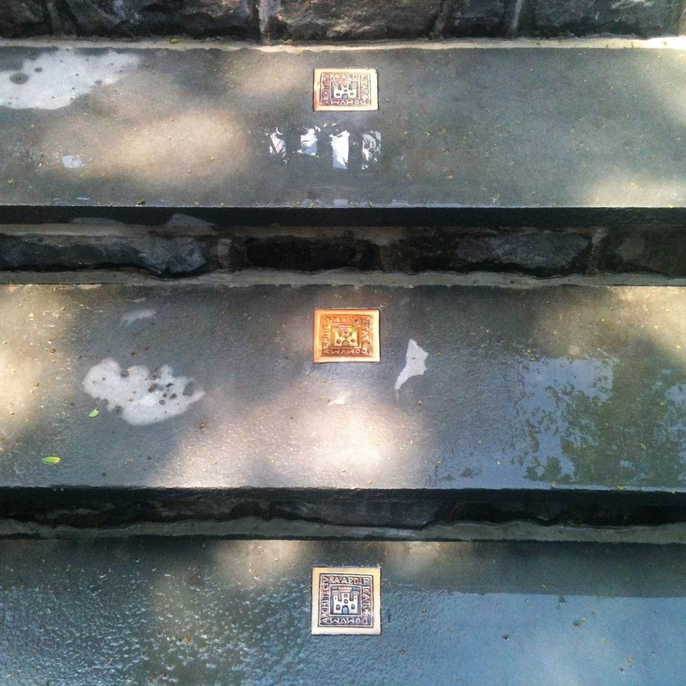 Tile Inlay on Steps
