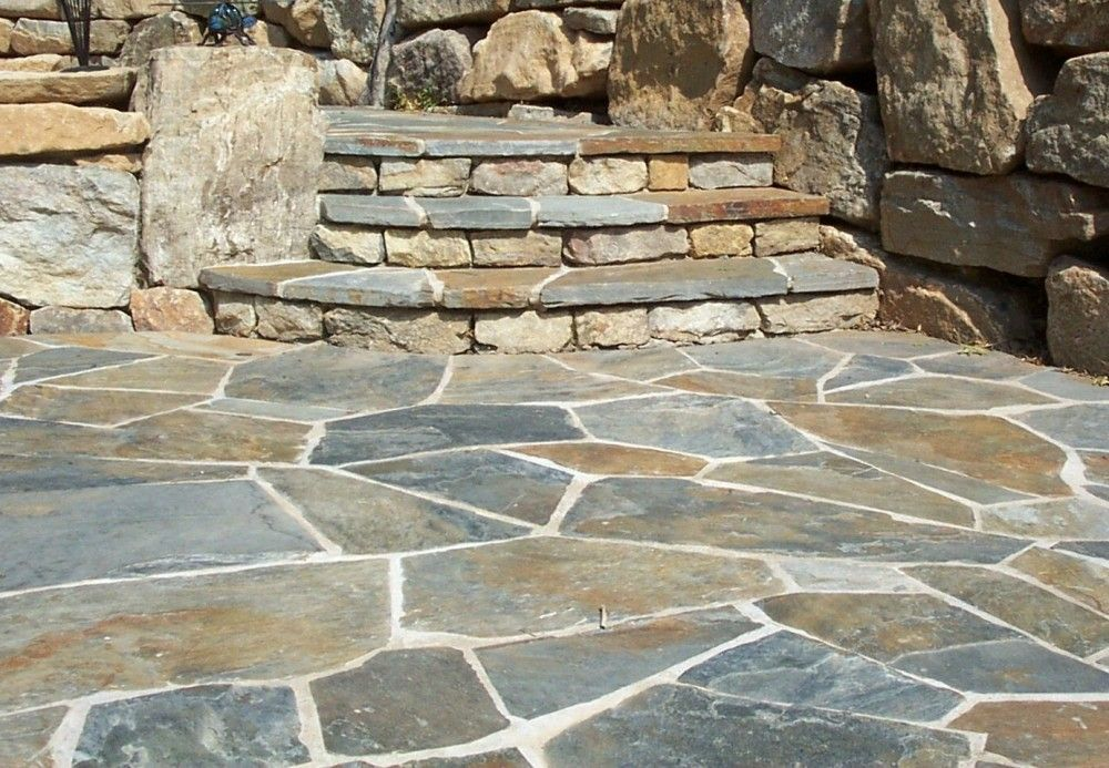 Irregular Step and Patio Detail