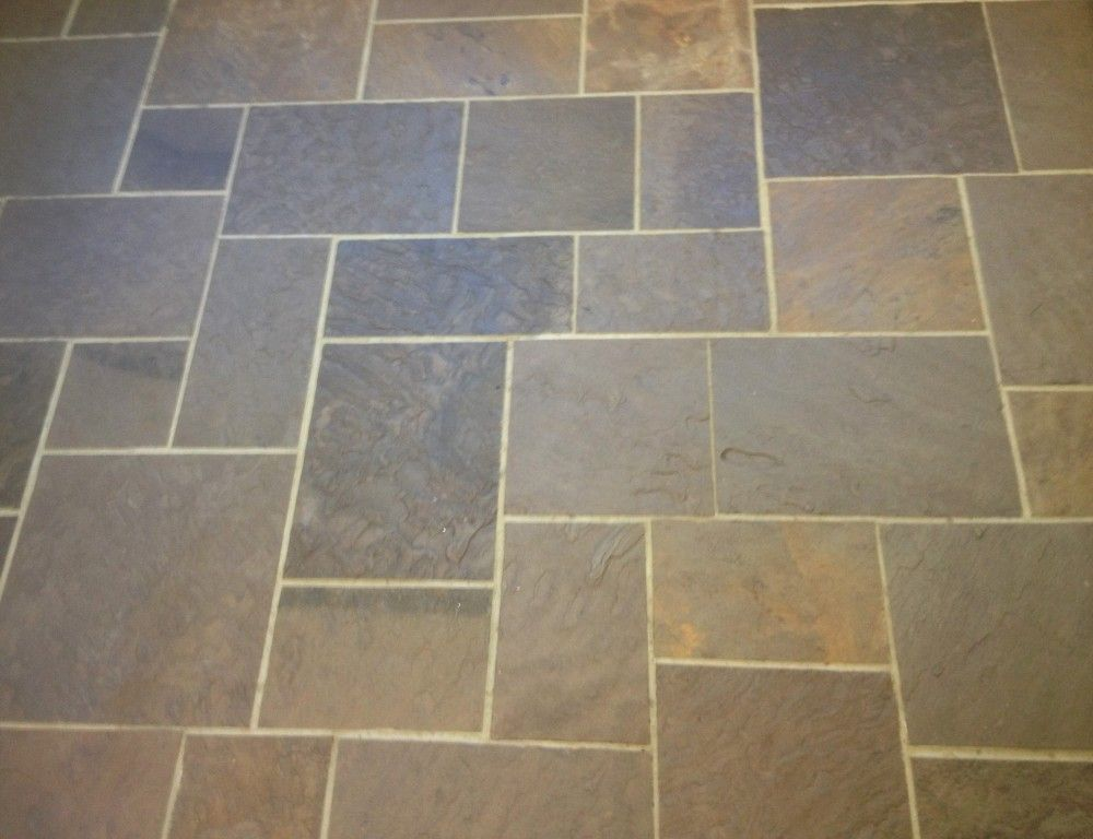 Lilac Pattern Bluestone Floor