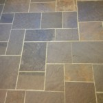 Lilac Pattern Bluestone Floor Detail