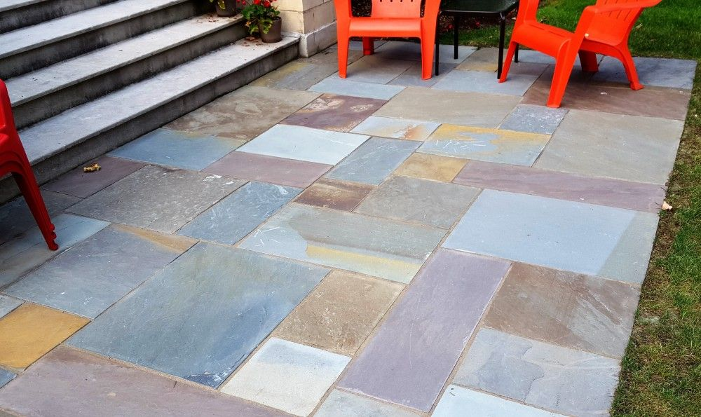 Full Color Bluestone Patio Detail