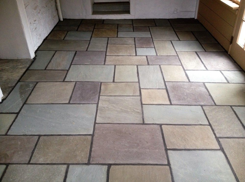 Full Color Bluestone Floor Detail