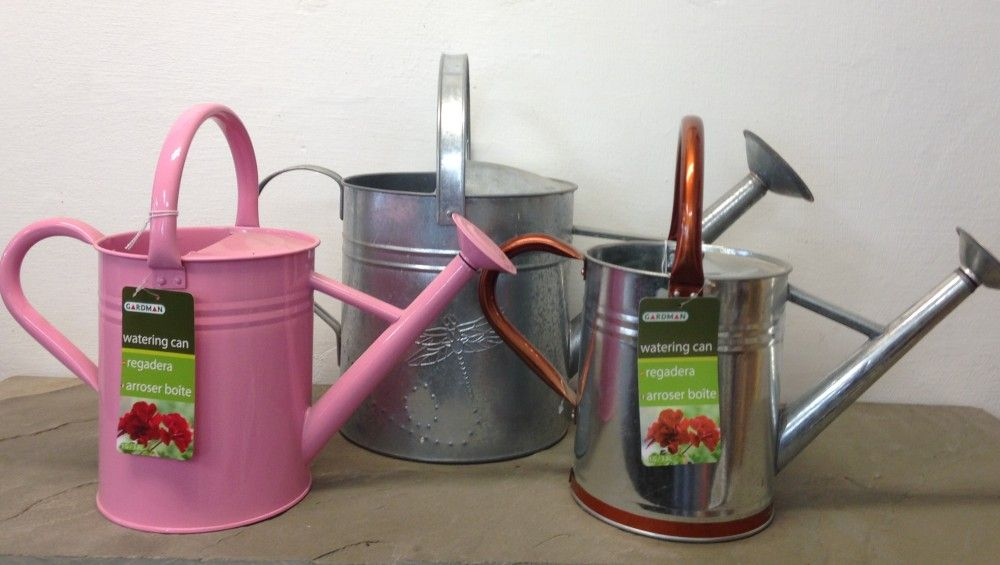 Tin Watering Can Display