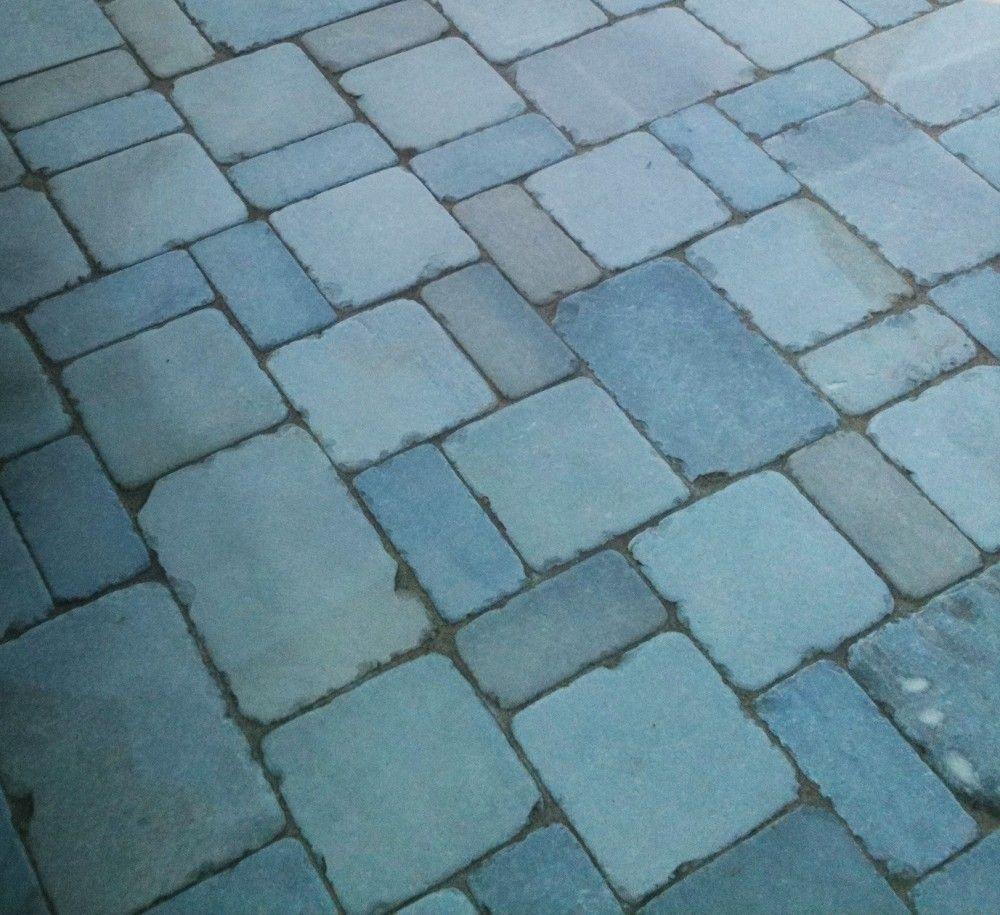 Tumbled Bluestone Patio Detail