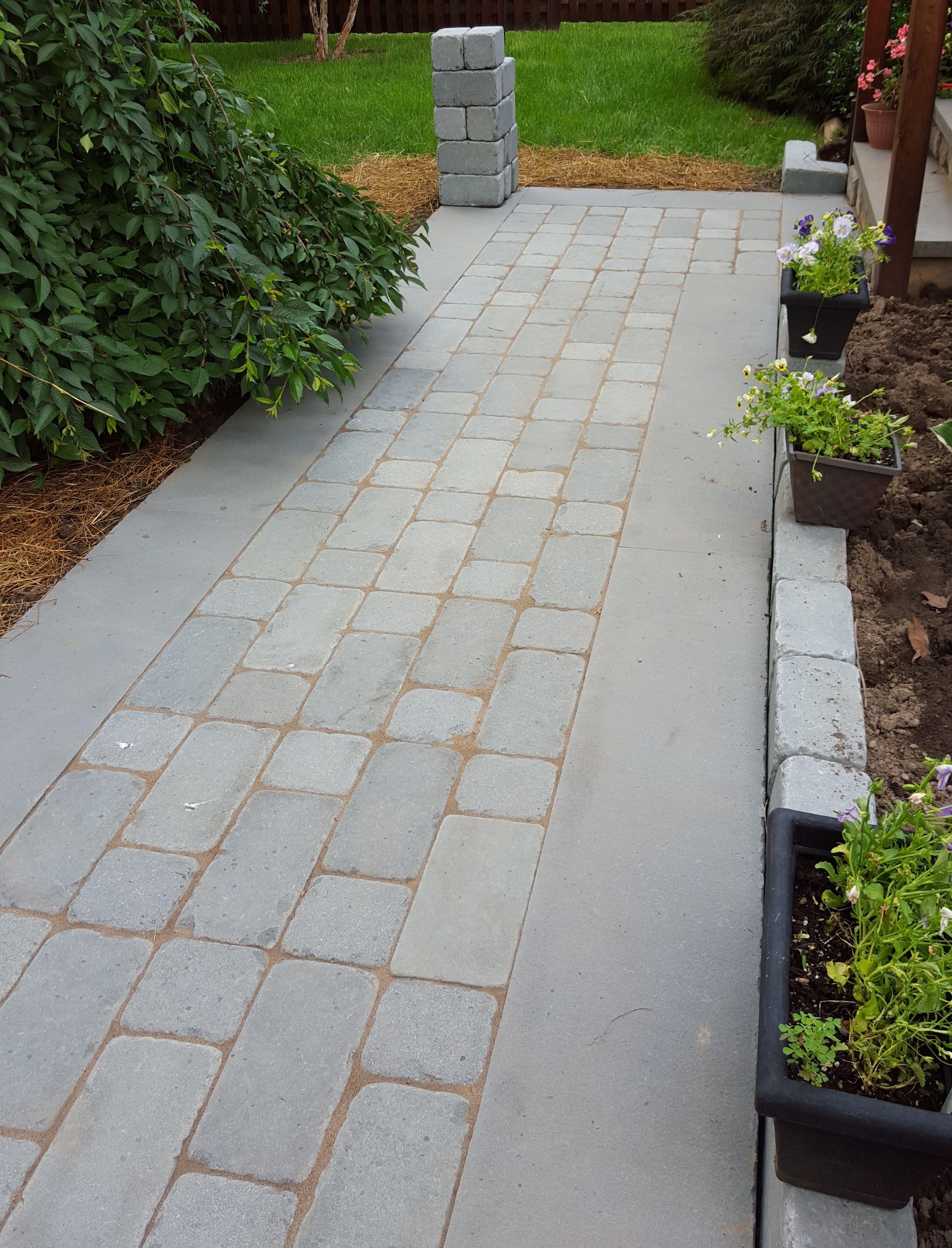 Marvelous Tumbled Bluestone Walkway Detail