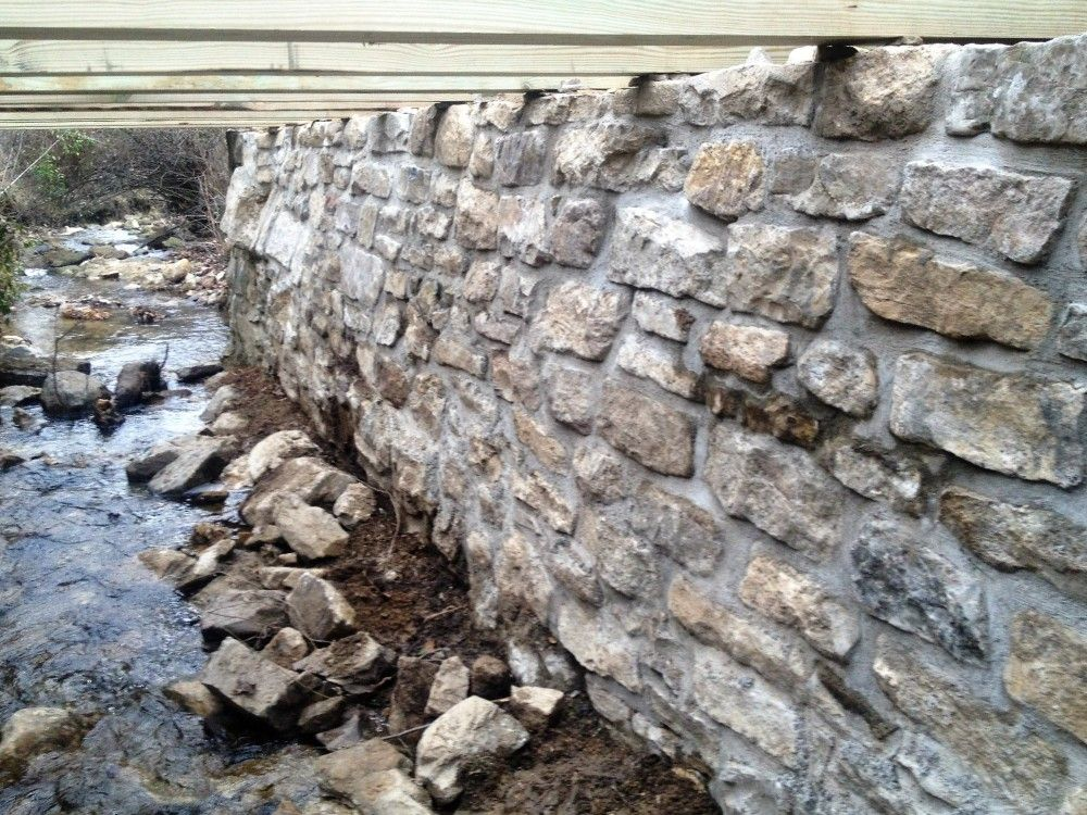 Creek Wall Detail