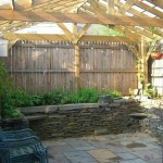 Small Backyard Wall and Patio Detail