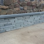 Tumbled Bluestone Wall Detail