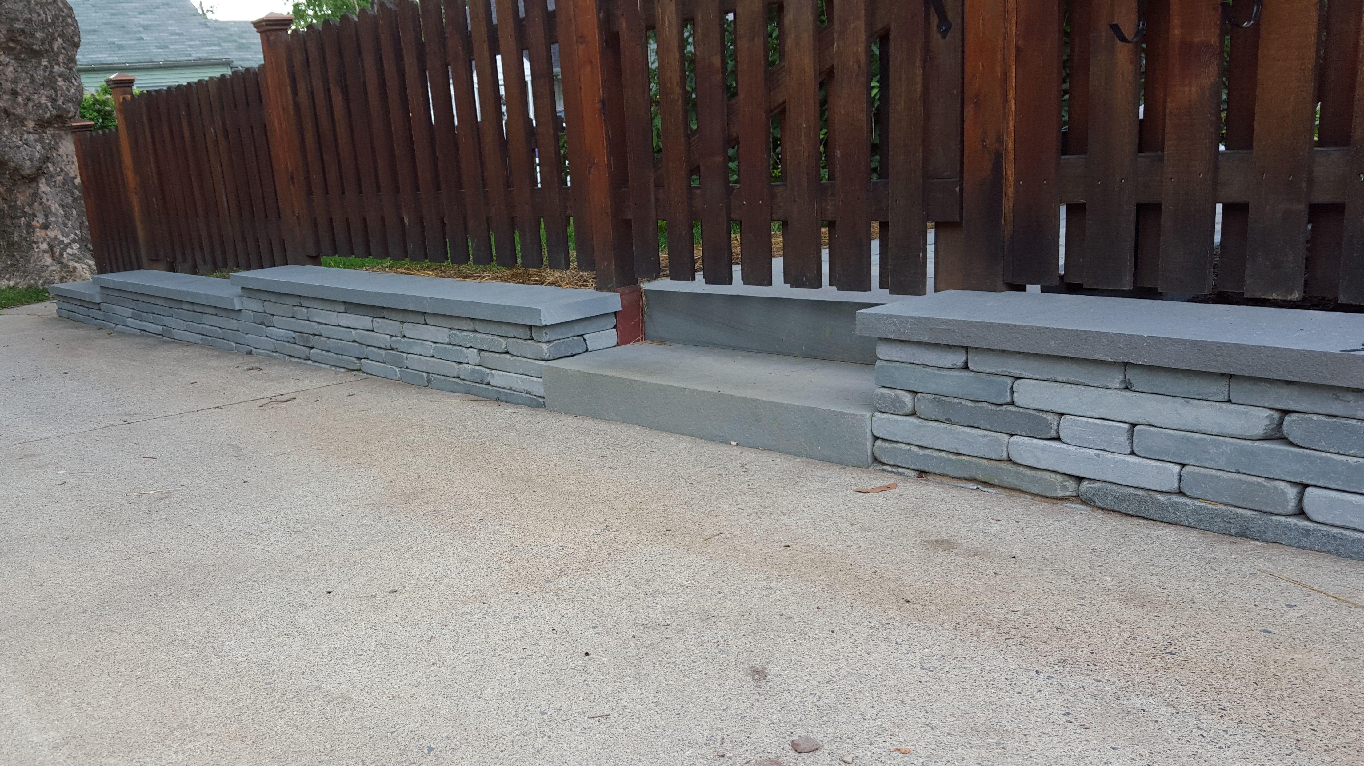 Tumbled Bluestone Wall Detail